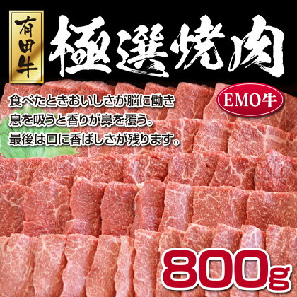 宮崎県産黒毛和牛<エモー牛 極選焼肉 800g>牛肉 お肉 特産品 宮崎県 新富町
