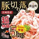 【ふるさと納税】宮崎県産豚肉 切り落し 5kg 5000g(...