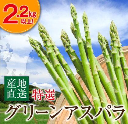 (特選)グリーンアスパラ(大容量2.2kg以上)