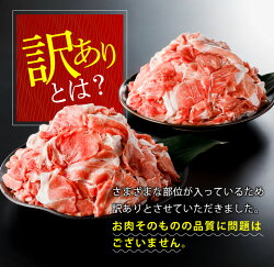 【ふるさと納税】数量限定【訳あり】宮崎県産豚小間切れ肉(計4kg) 画像1