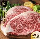 【ふるさと納税】宮崎県産黒毛和牛ロースステーキ500g(250g×2枚)