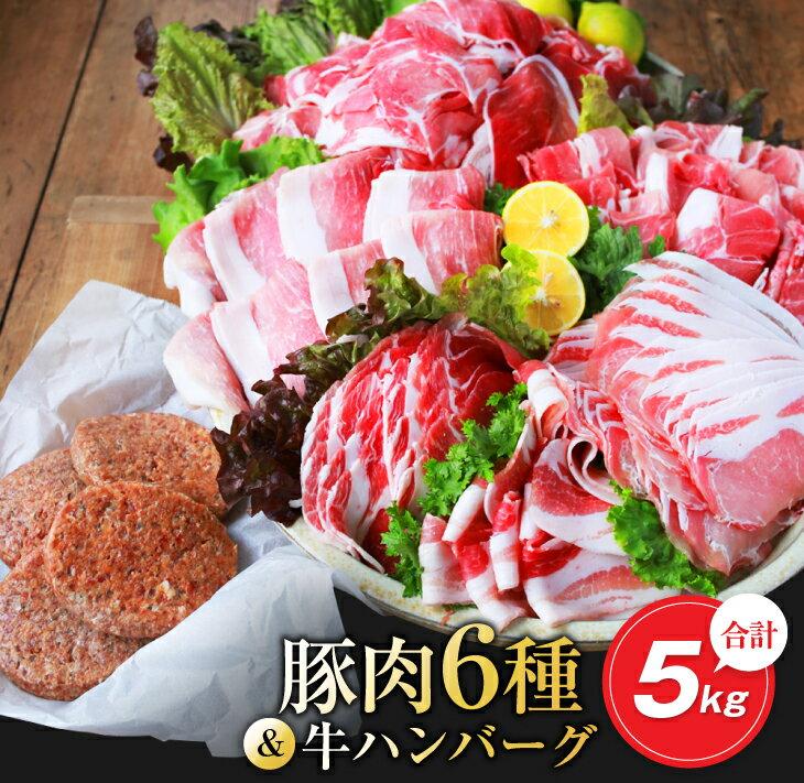 お楽しみ『豚肉6種&牛ハンバーグセット』合計5kg