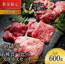 【ふるさと納税】《数量限定》宮崎牛6種食べ比べスライスセット【3D冷凍】肉牛牛肉