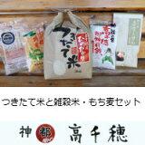 【ふるさと納税】C-1つきたて米と雑穀米・もち麦セット