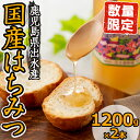 【ふるさと納税】純国産の蜂蜜!出水の香り(1200g×2)安...