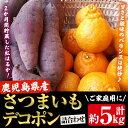 【ふるさと納税】<ご家庭用>みかん農家!坂元さんちのデコポン(2kg)と熟成芋紅はるか(3kg)セッ
