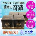 【ふるさと納税】 薩摩の奇蹟 5L 4箱 小型ボックス【送料...