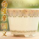 【ふるさと納税】白薩摩焼 ミニ盆栽鉢(割文)【桂木陶芸】