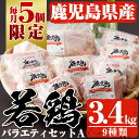 【ふるさと納税】【数量限定】鹿児島県産の鶏肉9種類 合計3....