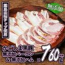 【ふるさと納税】かごしま黒豚無添加ベーコン&ハムセット