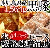 【ふるさと納税】鹿児島黒豚生餃子・黒豚ロース味噌漬けセット