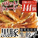 【ふるさと納税】鹿児島黒豚の生餃子(12個×12P・計144個)黒豚と国産野菜に