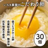 【ふるさと納税】いちき農園のこだわり卵(10個入り3パック)
