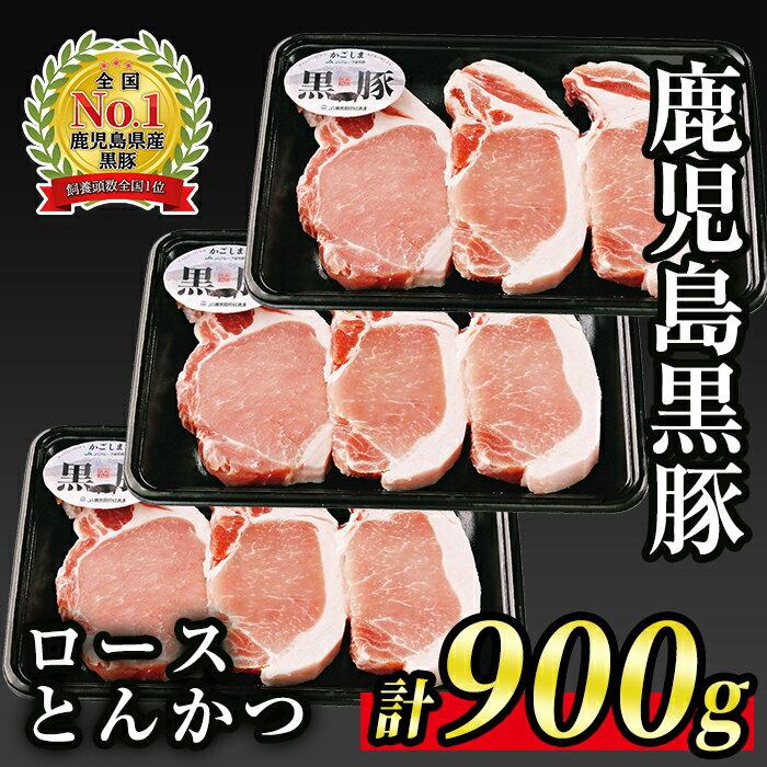 鹿児島黒豚ロースとんかつセット本場鹿児島の豚肉をお届け![JA北さつま][A0-10]