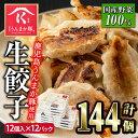 【ふるさと納税】タレ付き!鹿児島うんまか豚生餃子(計144個・12個入り×12P