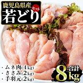 【ふるさと納税】まつぼっくり若どりムネ肉4kg・ささみ2Kg・手羽元2kgセット_matu-453