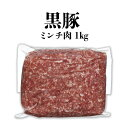 【ふるさと納税】鹿児島県産【黒豚】ミンチ肉1kg|鹿児島 鹿