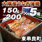 大隅産うなぎ蒲焼き(5尾)