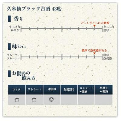 【ふるさと納税】久米仙ブラック古酒【35度・43度】セット