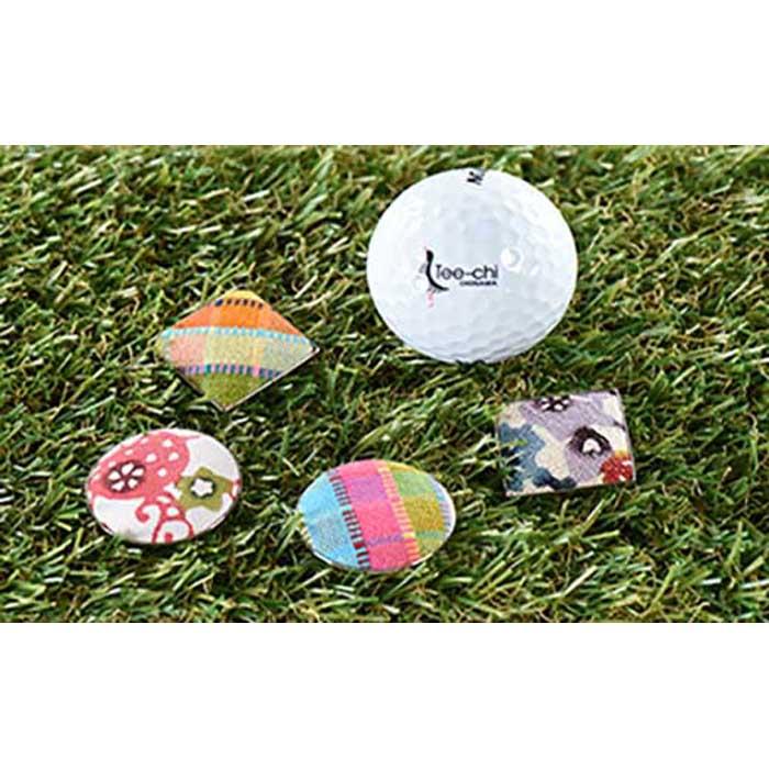 【ふるさと納税】【丸型・ネイビー系】[ネット限定]Tee−chiオリジナル紅型ゴルフマーカー