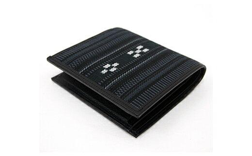 【ふるさと納税】AZ-28 みんさー二つ折財布 ヤッサミ黒