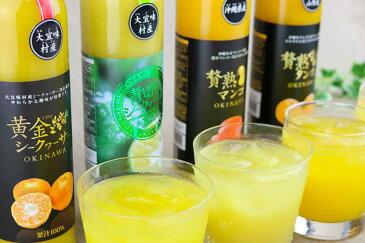 【ふるさと納税】沖縄果実の贅沢ジュース8本(マンゴー、シークヮーサージュース、タンカン)