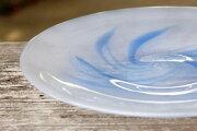 【ふるさと納税】琉球ガラス渦巻柄8寸ガラス皿