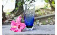 【ふるさと納税】琉球ガラスビアグラス青OCEAN