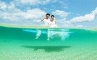 【ふるさと納税】ビーチでフォトウェディング【水中ビーチフォト】