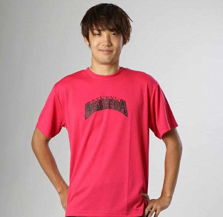 【ふるさと納税】琉球アスティーダオリジナルTシャツ(Lサイズ 素材:ポリエステル)&ステッカー