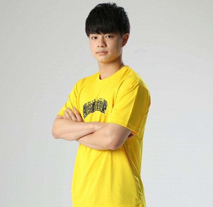 【ふるさと納税】琉球アスティーダオリジナルTシャツ(Mサイズ 素材:ポリエステル)&ステッカー