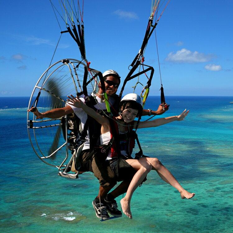 【ふるさと納税】沖縄でモーターパラグライダー!(お一人様の所要時間:約20分)