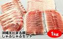 【ふるさと納税】沖縄キビまる豚 しゃぶしゃぶセット(1kg)