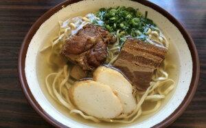 【ふるさと納税】自家製麺 沖縄そば専門店「三枚肉とソーキそば」セット 4食入り