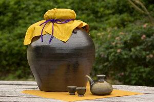 【ふるさと納税】my古酒づくりセット5升甕(カラカラとおちょこ2個付き)