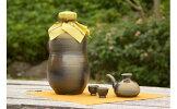 【ふるさと納税】【ようざん窯】my古酒づくりセット1升甕(カラカラとおちょこ2個付き)