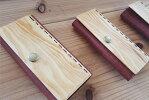 【ふるさと納税】琉球松と革で作ったキーケース