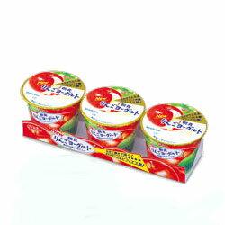 グリコ 朝食りんごヨーグルト75g×3個パック 【冷蔵同梱】可能商品【10P11Jan14】