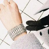 【PHILIPPE AUDIBERT/フィリップオーディベール】Verona metal cuff silver color
