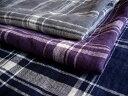 【fabric birdオリジナルリネン】◇親子ワンピース&おまけバッグ◇リトアニアリネン チェック