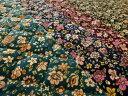 【生地】【キルト】コールテンお花柄プリント 裏エステルキルト