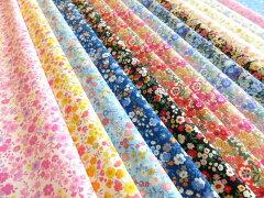 【50cm単位】 ブロードプリント ~garden flower~【生地】