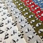 【50cm単位】コットンツイルだいすきパンダちゃん