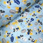 【キルト】★10cm単位続けてカット★ディズニー ミッキーマウス2016 ミッキーのコメント柄 【ミッキー 生地 ドナルド 生地 プルート 布 入園 通園 入学 通学 生地 布】