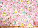 【送料無料対象ハギレ】※訳あり▲約1.5mハギレ ジュエルペット バラ柄 薄いピンク地リップル10P01Oct16