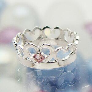 刻印できるちょっと大きめサイズのクイーンベビーリング/プラチナ900[ピンクトルマリン(10月の誕生石/天然宝石)]出産記念 誕生祝い 出産祝い