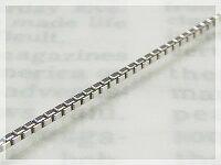 ベネチアネックレス:スライド調整式(長さ45cm:幅0.9mm)/ホワイトゴールドK18