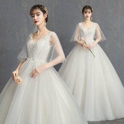 ウェディグドレス マタニティドレス トレーン 大きいサイズ ドレス 白 二次会 フォトウエディング 海外挙式