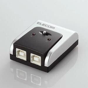 USBプリンタ等を切り替えて使用できる切替器。USB2.0準拠。エレコム USB2.0対応切替器 U2SW-T2...