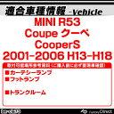 LL-BM-CLA73 LED インテリア 室内灯 MINI ミニ R53 Coupe クーペ CooperS (2001-2006) 5603728W レーシングダッシュ製 (レーシングダッシュ LED 室内灯 LED室内灯 ルームランプ カーテシ LEDカーテシ) 3